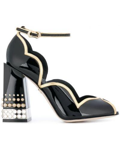 Кожаные туфли с открытым носком Dolce & Gabbana