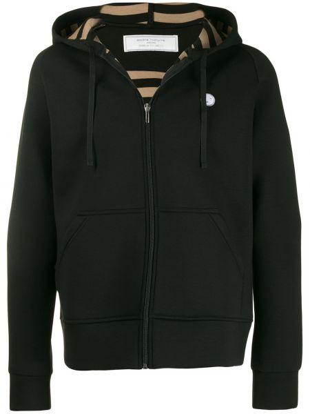 Черная куртка с манжетами в рубчик Société Anonyme