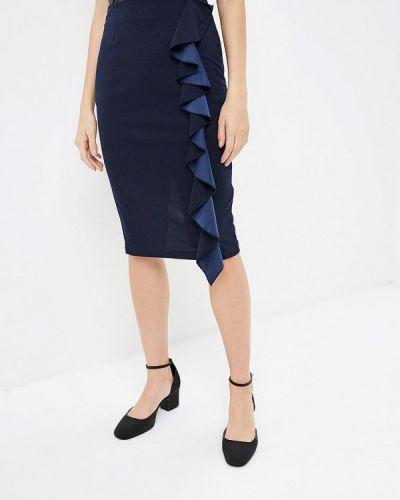 Синяя юбка карандаш с рукавом 3/4 Perfect J