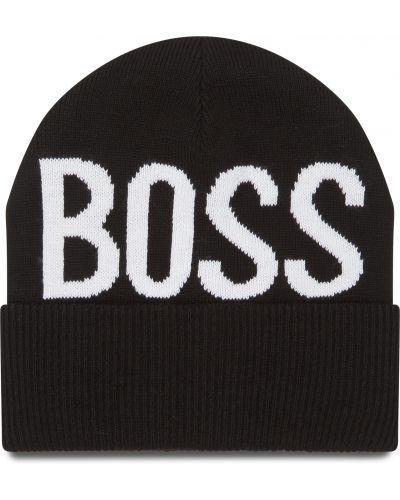 Czarna czapka Boss