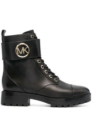 Кожаные черные ботинки на шнуровке Michael Michael Kors