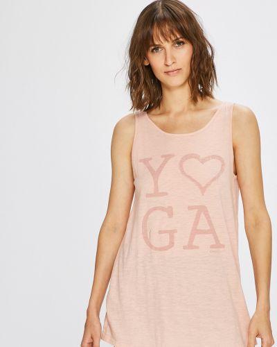 Спортивная футболка свободная розовый Only Play