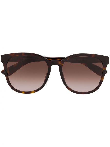 Муслиновые солнцезащитные очки квадратные хаки Moschino Eyewear