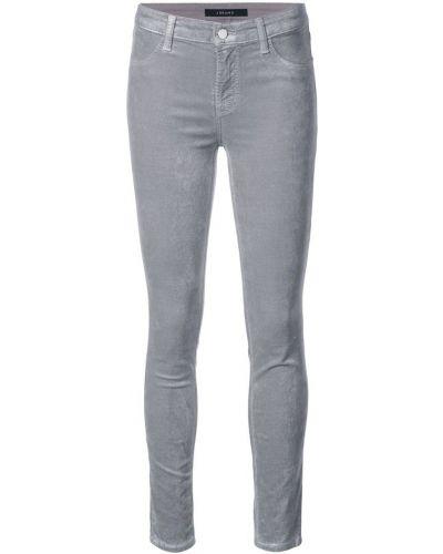 Серые джинсы-скинни J Brand