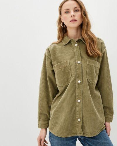 Зеленая рубашка с длинными рукавами Topshop
