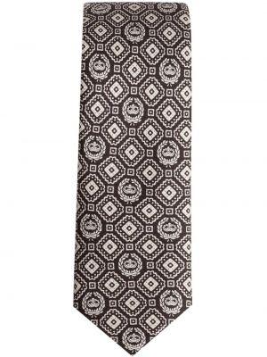 Белая шелковая резинка для волос Dolce & Gabbana
