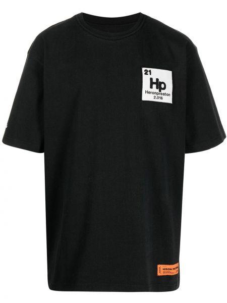 Bawełna bawełna czarny koszula Heron Preston