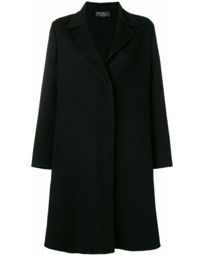 Черное пальто классическое с капюшоном Salvatore Ferragamo