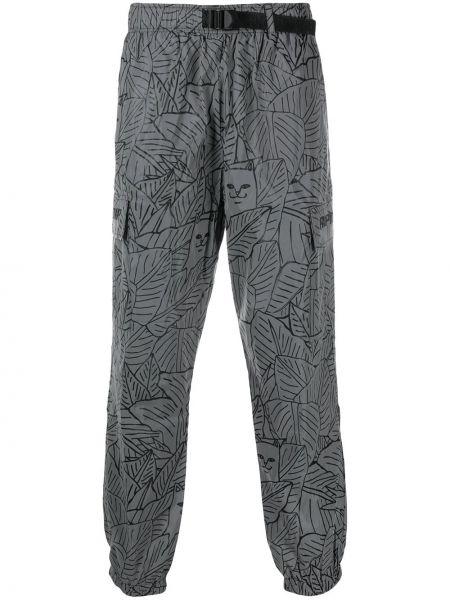Spodni bojówki z kieszeniami z mankietami z łatami Ripndip