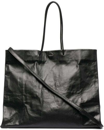 Czarna torebka skórzana z printem Medea