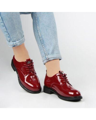 Кожаные туфли - бордовые Berisstini