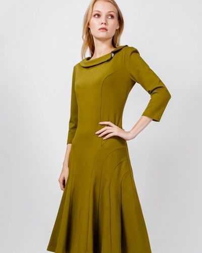 Платье осеннее хаки мадам т