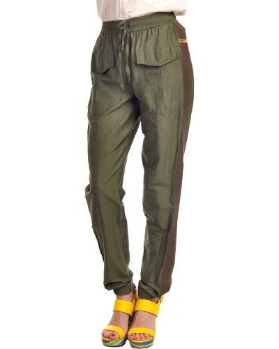 Хлопковые брюки - зеленые Hotel Particulier