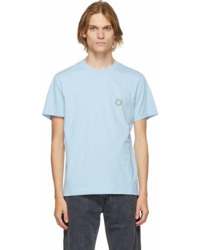 Niebieska koszulka bawełniana Carne Bollente