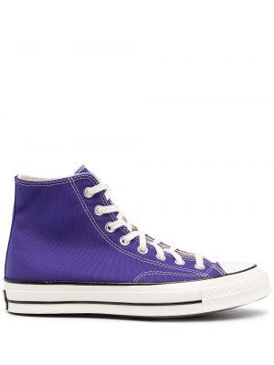 Со звездами кожаные кеды на шнуровке Converse