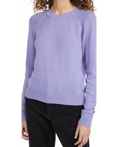 Шерстяной длинный свитер с длинными рукавами с декольте A.p.c.