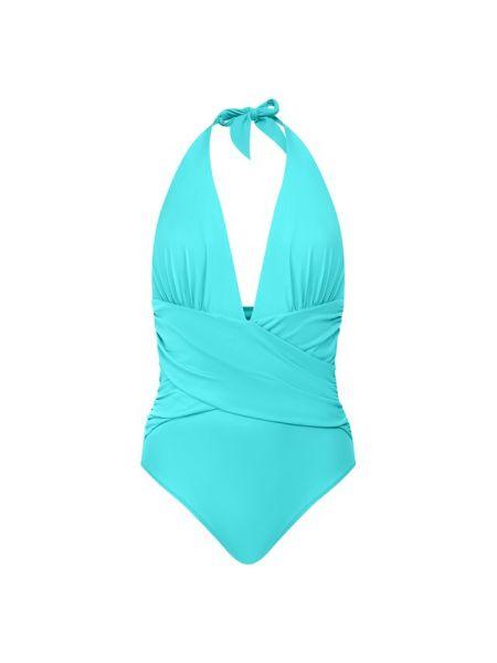 Синий плюшевый слитный купальник Lazul
