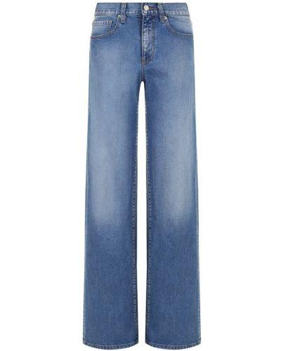 Расклешенные джинсы с эффектом потертости Oscar De La Renta