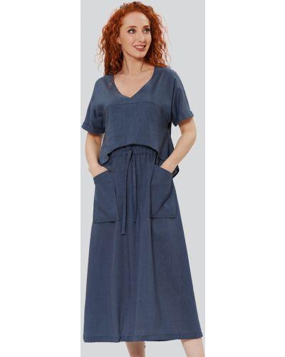 Повседневное платье макси с принтом с вырезом D`imma Fashion Studio