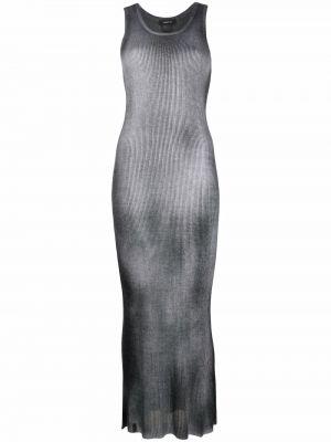 Платье миди в рубчик - серое Avant Toi