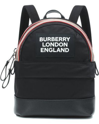 Czarny plecak szkolny skórzany Burberry Kids