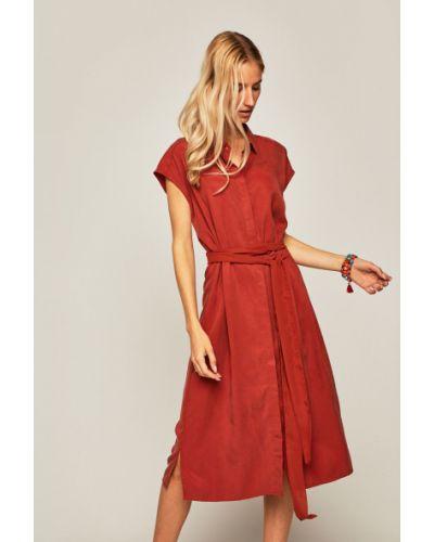 Коричневое прямое облегающее платье с вырезом с нашивками Medicine