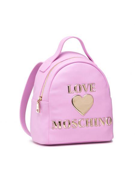 Różowa torba sportowa Love Moschino