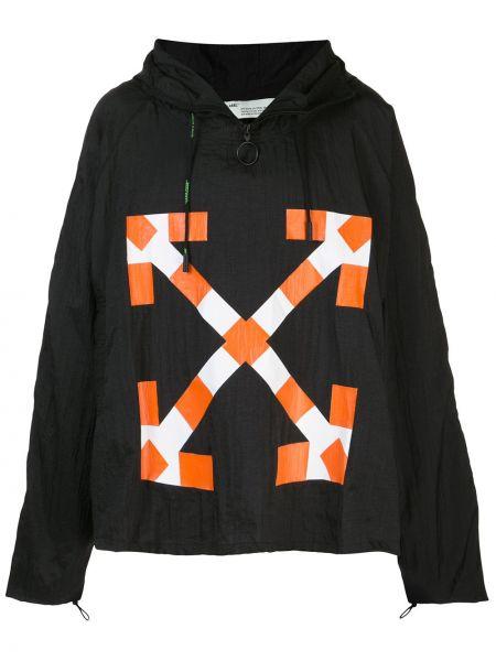 Anorak kurtka z kapturem czarny Off-white