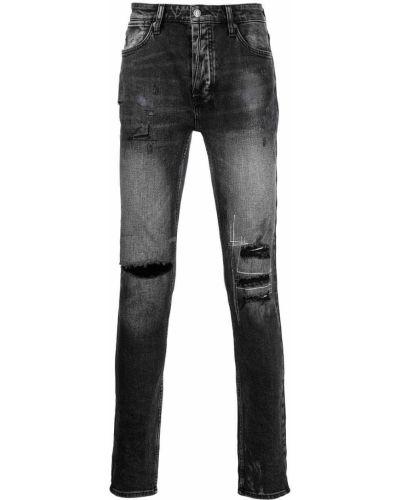 Czarne jeansy z paskiem Ksubi