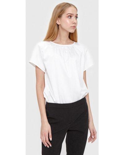 Блузка с коротким рукавом белая весенний Bizzarro