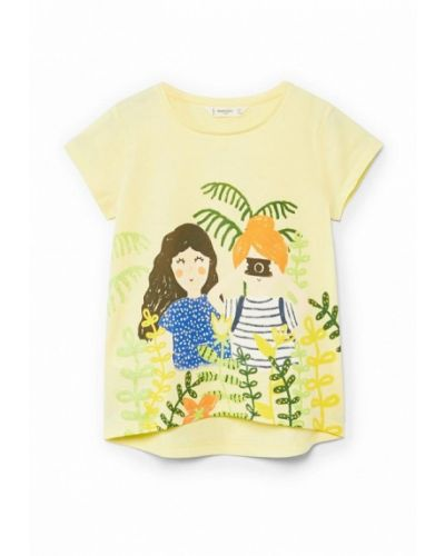 Желтая футболка Mango Kids
