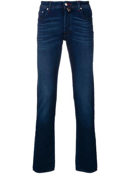 Классические синие прямые джинсы с карманами с жемчугом Jacob Cohen