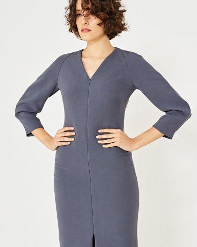 Платье мини с V-образным вырезом облегающее Simple