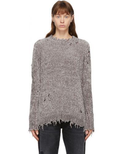 С рукавами длинный свитер с воротником с манжетами R13