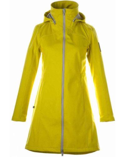 Пальто с капюшоном - желтое Huppa
