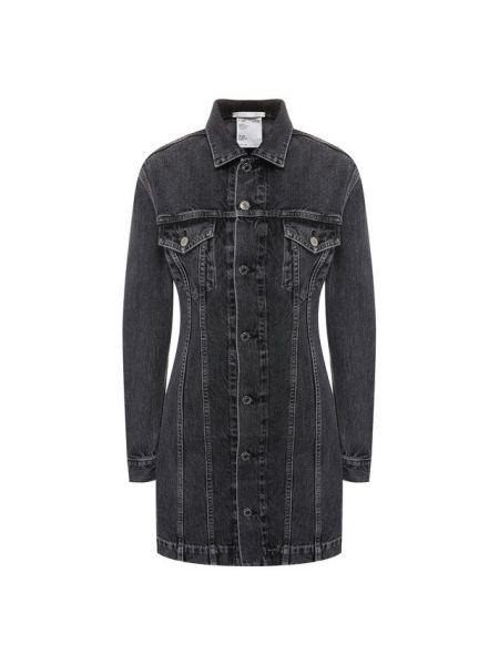 Джинсовое платье серое платье-рубашка Helmut Lang
