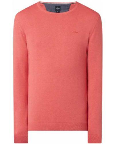 Sweter bawełniany - różowy S.oliver Red Label