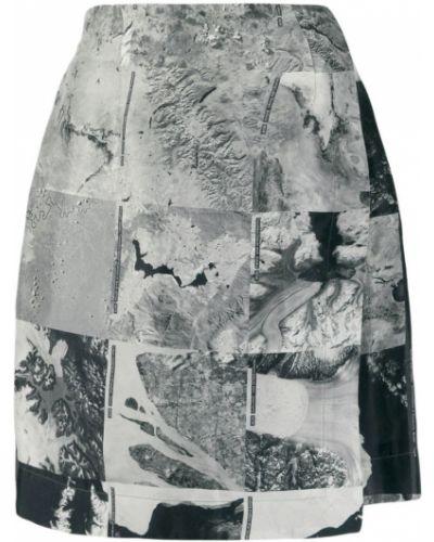 Плиссированная облегающая серая юбка мини Raeburn