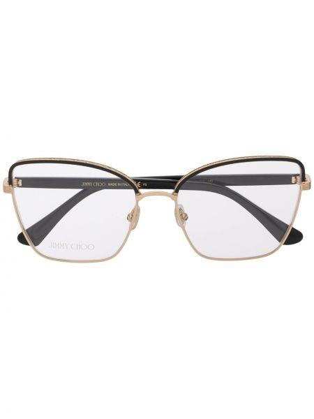 Черные очки квадратные металлические Jimmy Choo Eyewear