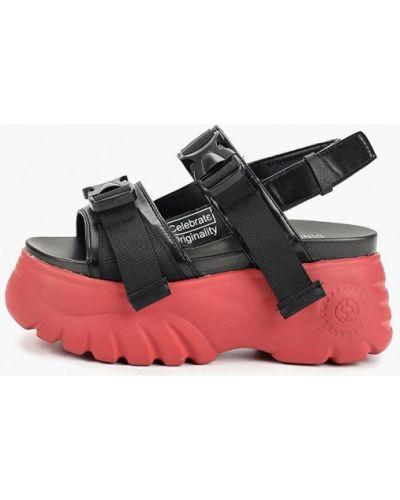 Кожаные сандалии - черные Dino Albat