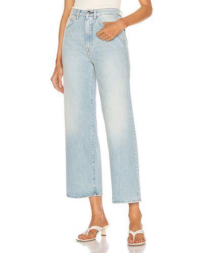 Niebieskie jeansy bawełniane na co dzień Toteme