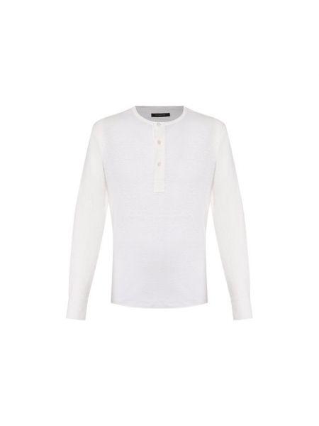 Льняная белая футболка Ermenegildo Zegna