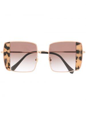 Розовые солнцезащитные очки квадратные скинни Miu Miu Eyewear