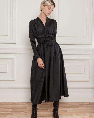Платье с поясом - черное Dolcedonna