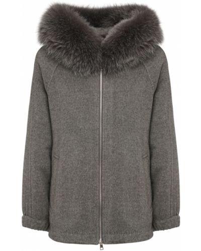 Кашемировая куртка с карманами с капюшоном Blancha