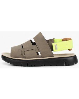 Серые кожаные сандалии Camper