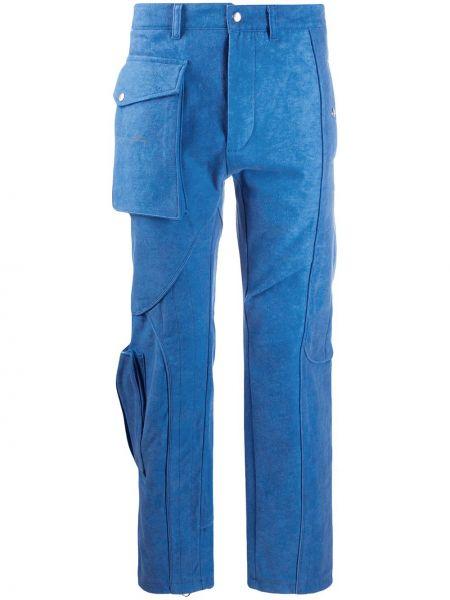 Bawełna spodni niebieski bojówki z paskiem A-cold-wall*