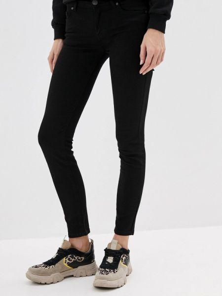 Черные джинсы-скинни с пайетками Galvanni