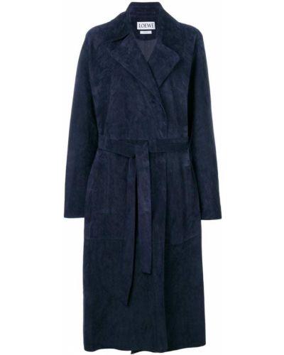 Длинное пальто классическое с запахом халат Loewe