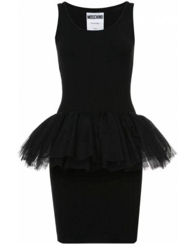 Облегающее платье приталенное с вырезом Moschino